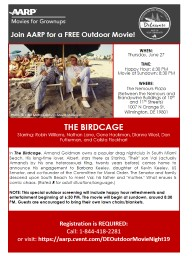 Join AARP for  a FREE Outdoor Movie!