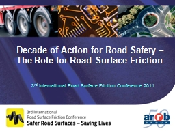 Decade of Action for Road Safety – PowerPoint PPT Presentation