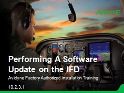Performing A Software Update on the IFD
