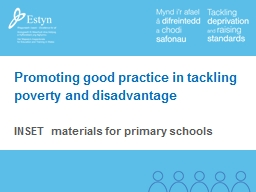 Promoting good practice in tackling poverty and disadvantage