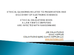ETHICAL QUANDRIES RELATED TO PRESERVATION AND