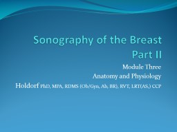 Sonography of the Breast Part II