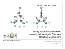Using Natural Abundance of Isotopes to Investigate Chemical Reaction Mechanisms