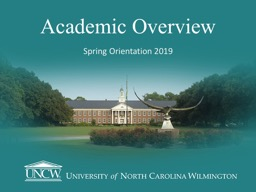 Academic Overview Spring