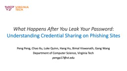 What Happens After You Leak Your Password