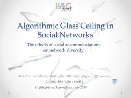 Algorithmic Glass Ceiling in Social Networks