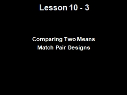 Lesson 10 -  3 Comparing Two