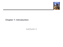 Chapter 1- Introduction Lecture 1