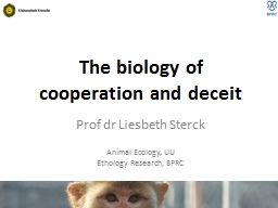 The biology of cooperation and