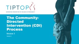The Community-Directed Intervention (CDI) Process