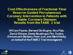 Cost-Effectiveness of Fractional Flow Reserve-Guided Percutaneous Coronary Intervention in Patients