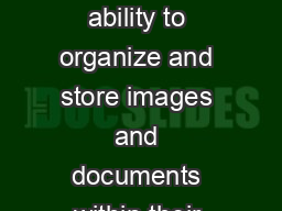 RefWorks users now have the ability to organize and store images and documents within their personal database