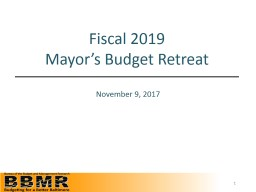 Fiscal 2018 1 st  Quarter Projections