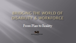 Bridging the World of Disability & Workforce