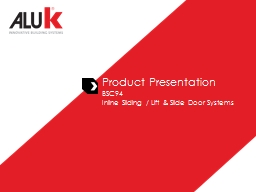 Product Presentation BSC94
