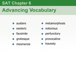 SAT Chapter  6 Advancing Vocabulary