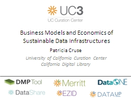 Business Models and Economics of Sustainable Data Infrastructures