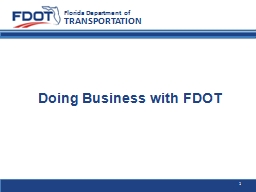 Doing Business with FDOT
