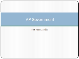 The Mass Media AP Government