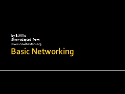 Basic Networking by  B.Mills