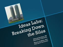 Ideas Labs: Breaking Down the Silos