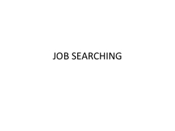 JOB SEARCHING WORDS TO KNOW