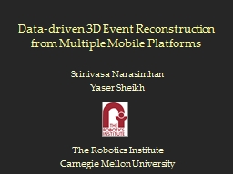 Data-driven 3D Event Reconstruction from Multiple Mobile Platforms