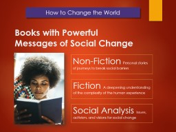 Non-Fiction    Personal stories of journeys to break social barriers