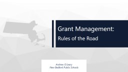 Grant Management: Rules of the Road