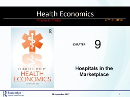 Hospitals in the Marketplace