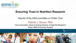 Ensuring Trust in Nutrition Research