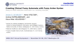 Creating Clinical Fuzzy Automata with Fuzzy Arden