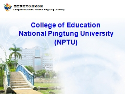 College of Education National