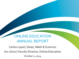 Online  Education  Annual Report