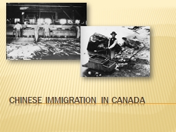 Chinese Immigration in Canada