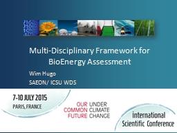 Multi-Disciplinary Framework for
