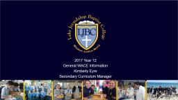 2017 Year 12 General WACE Information