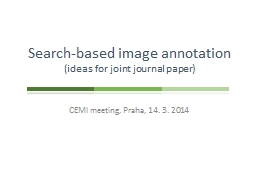 Search-based image annotation