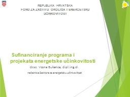 Sufinanciranje programa i projekata energetske učinkovitosti