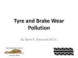 Tyre  and Brake Wear Pollution