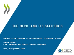 The OECD and its Statistics