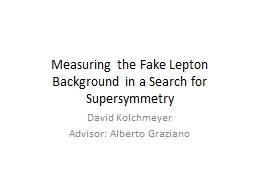 Measuring the Fake Lepton Background in a Search for