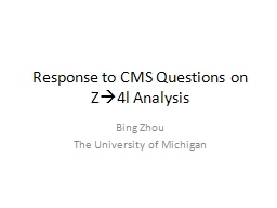 Response to CMS Questions on Z