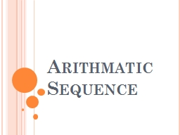 Arithmatic Sequence 2, 3, 5, 7, ...