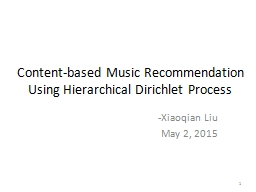 Content-based Music Recommendation Using Hierarchical Dirichlet Process