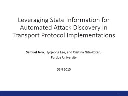 Leveraging State Information for Automated Attack Discovery In Transport Protocol Implementations