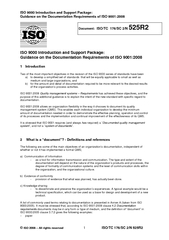 IS O  Introduction and Support Package Guidance on the