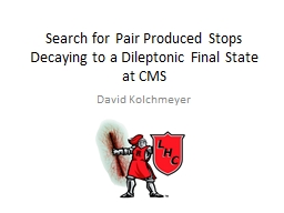 Search for Pair Produced Stops Decaying to a