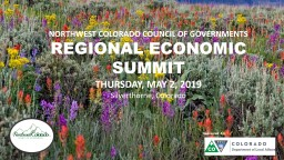 Sponsored  by: NORTHWEST COLORADO COUNCIL OF GOVERNMENTS