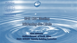 2018 CBC Meeting Widening the Circle